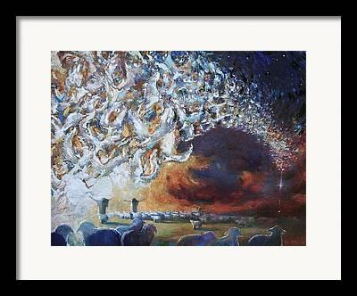 Shepherds Tending The Flocks By Night Framed Prints