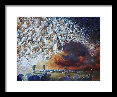 Shepherds Tending The Flocks By Night Framed Prints