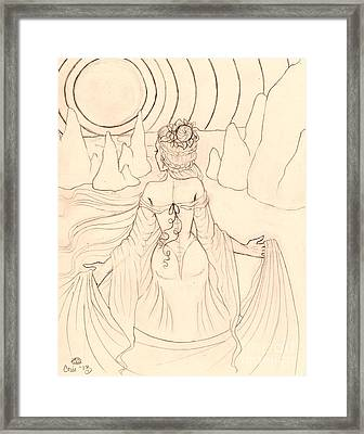 Seeing Spirits Sketch Framed Print by Coriander  Shea