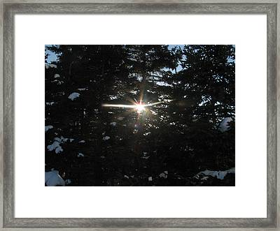 Seeing Through The Darkness Framed Print by Adam Smith
