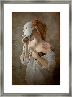 Seeing Through The Mask Framed Print