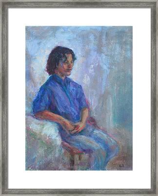 Seeker - Sale On Original Painting Framed Print