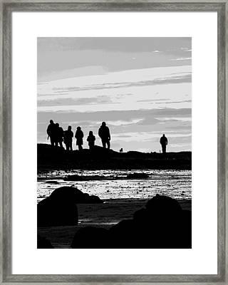 Seeker Silhouette Framed Print