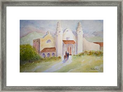 Seekers At The Mission Framed Print