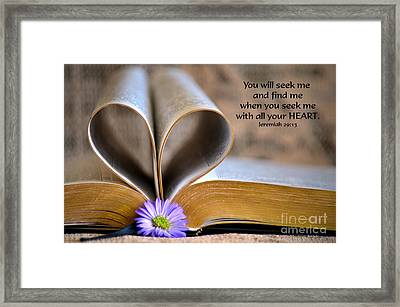 Seeking Framed Print by Deb Halloran