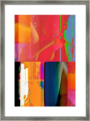 Seeking Encounter Number 3 Digital Art By Maria Lankina Framed Print
