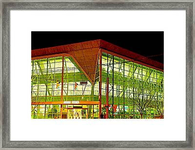 Seeking Knowledge At Night  Framed Print by Walter  Holland