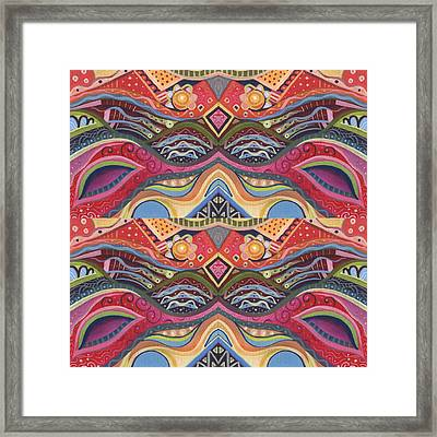 Seeking Symmetry - The Joy Of Design X V Compilation Framed Print by Helena Tiainen