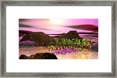 Framed Print featuring the digital art Seeking That Shalom Peace by Jacqueline Lloyd