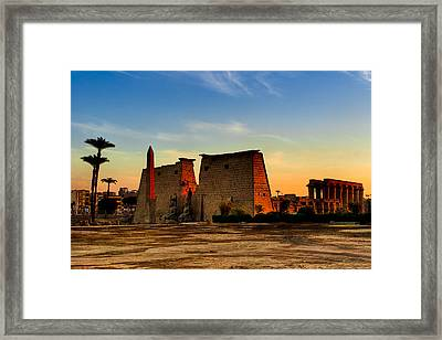 Seeking The Ancient Ruins Of Thebes In Luxor Framed Print by Mark E Tisdale
