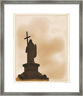 Framed Print featuring the photograph Seeking The Divine by Nadalyn Larsen