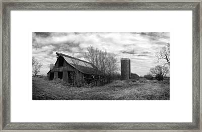Seen Better Days Black And White Framed Print