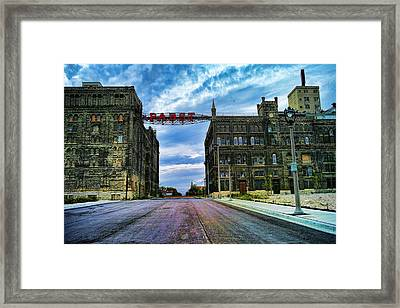 Seen Better Days Old Pabst Brewery Home Of Blue Ribbon Beer Since 1860 Now Derelict Framed Print by Lawrence Christopher