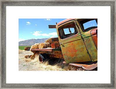 Seen Better Days Truck Framed Print