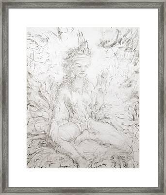 Seen Green Tara Framed Print