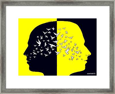 Sees Farther One Who Flies Higher Framed Print by Paulo Zerbato