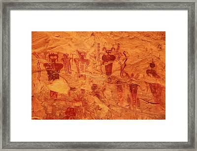 Sego Canyon Rock Art Framed Print by Alan Vance Ley