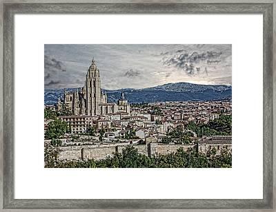 Framed Print featuring the photograph Segovia by Angel Jesus De la Fuente