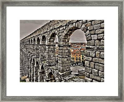 Segovia Aqueduct - Spain Framed Print by Juergen Weiss