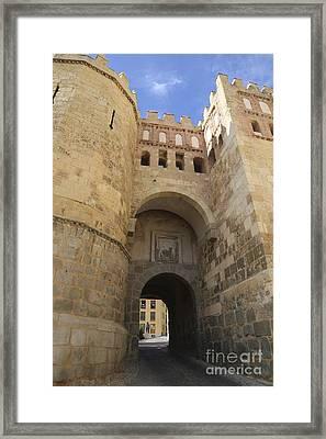 Segovia City Gate Framed Print