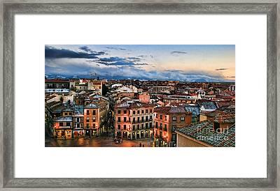 Segovia Nights In Spain By Diana Sainz Framed Print