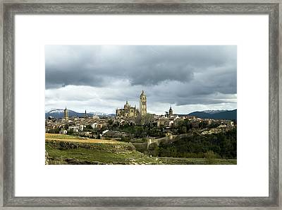 Segovia Surrounded Framed Print by Lorraine Devon Wilke