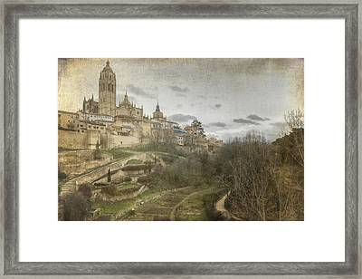 Segovia View Framed Print by Joan Carroll