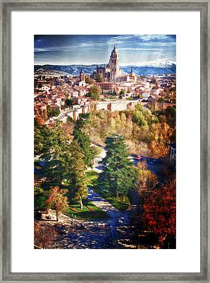 Segovia's Cathedral From The Alcazar Framed Print