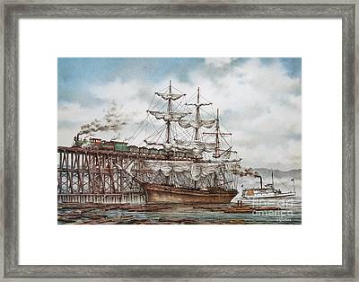 Sehome Coal Wharf Framed Print by James Williamson
