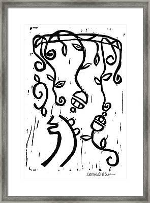 Sei Hei Ki With Flowers Framed Print by Lynn-Marie Gildersleeve