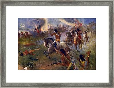 Seige Of New Ulm, C1902 Framed Print by Granger