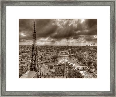 Seine From Notre Dame Framed Print