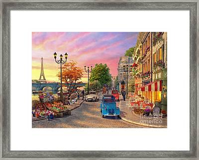 Seine Sunset Framed Print