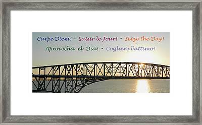 Seize The Day - Annapolis Bay Bridge Framed Print