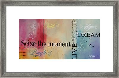 Seize The Moment Framed Print