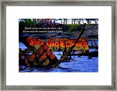 Seize The Moment Framed Print by Mike Flynn