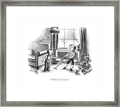 Seizure Of Property Framed Print by William Steig