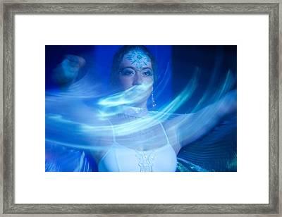 Sekai Moving Veil Framed Print