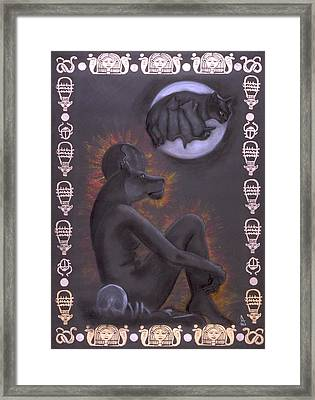 Sekhmet And Bastet Framed Print by Diana Perfect