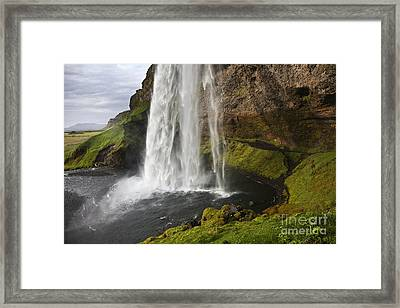 Selandsfoss In Iceland Framed Print