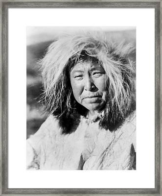 Selawik Indian Woman Circa 1929 Framed Print by Aged Pixel