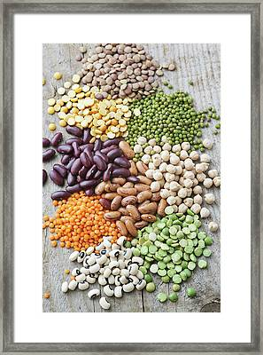 Selection Of Beans Framed Print by Gustoimages