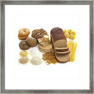 Selection Of Breads And Pastas Framed Print by Science Photo Library