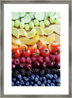 Selection Of Fruit Framed Print by Gustoimages