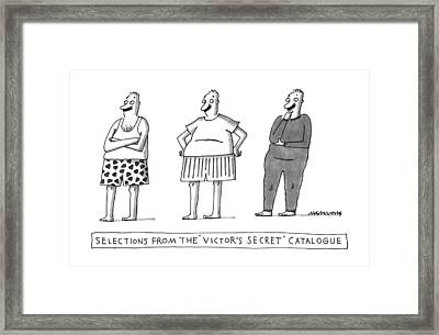 Selections From The Victor's Secret Catalogue Framed Print by Mick Stevens
