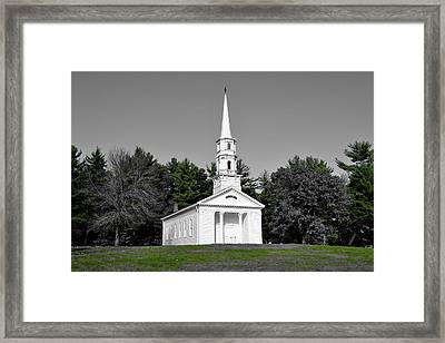 Selective Color Chapel Framed Print by Brian Mooney