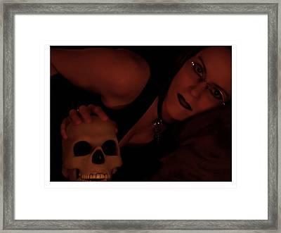 Selena And Skull Face Framed Print by Matt Nelson