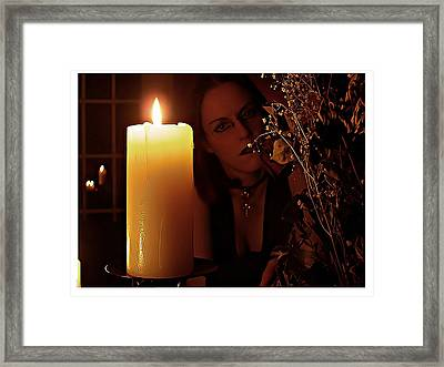 Selena Candle Light And Dead Roses Framed Print by Matt Nelson