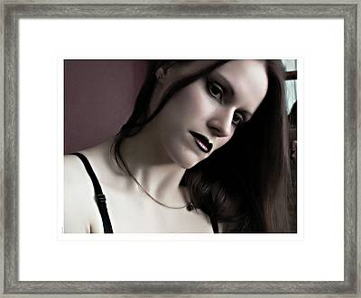 Selena Coloured Portrait Framed Print by Matt Nelson