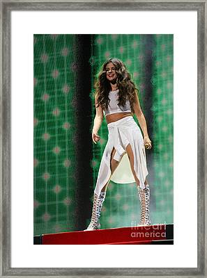 Selena Gomez-8678-1 Framed Print by Gary Gingrich Galleries